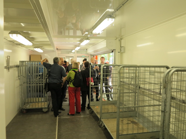 Inside view of the mobile depot during the technical visit