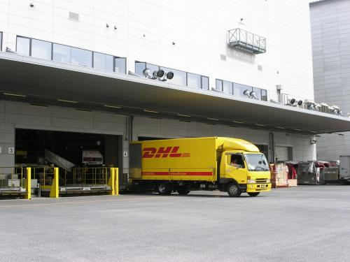 DHL Supply Chain truck and loading bay